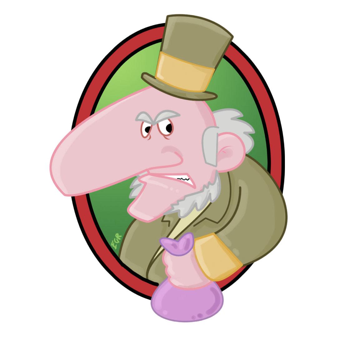 """personaggio di Scrooge de """"Il Canto di Natale"""" di Charles Dickens"""