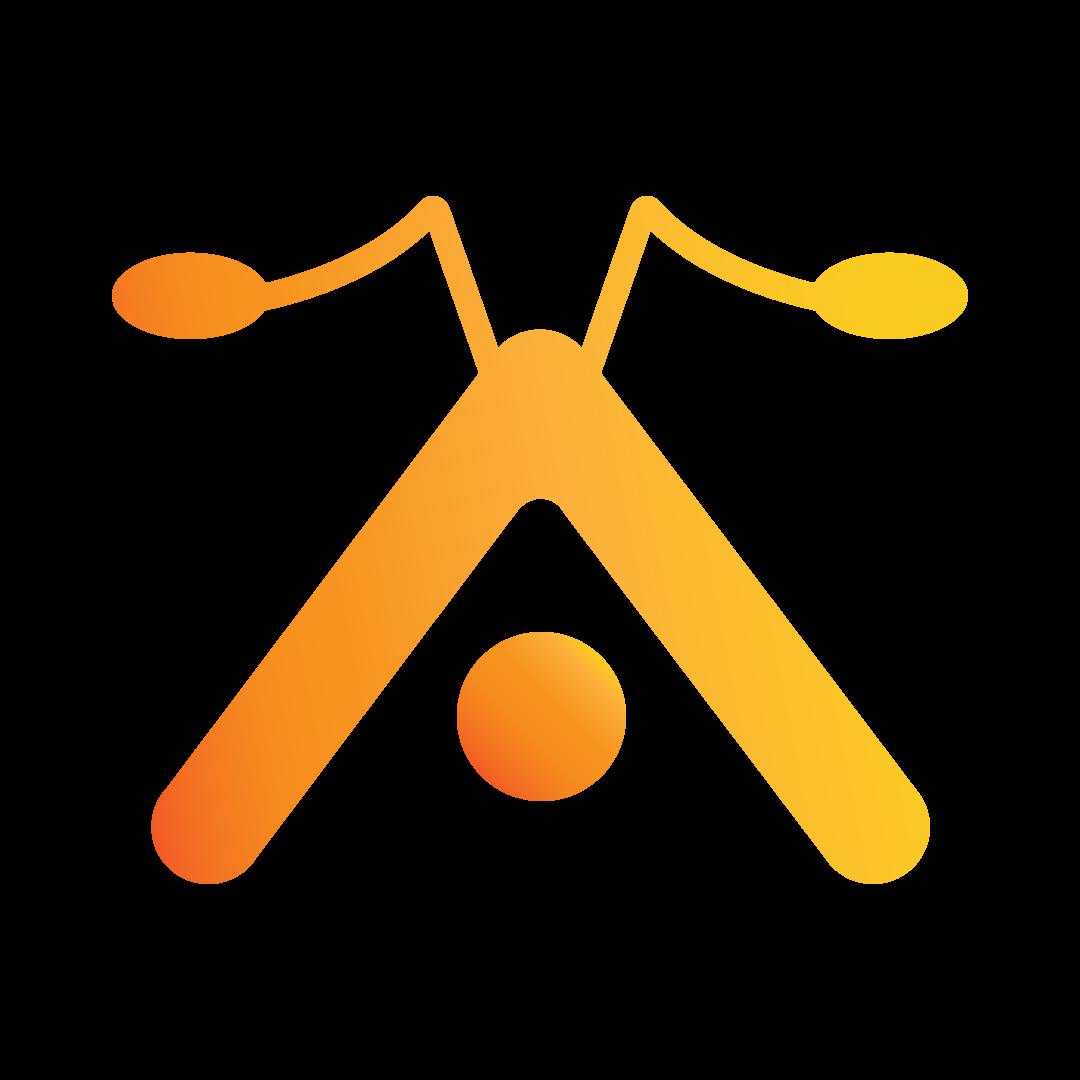 Logo Ant Gio Studios - una A con le antenne;